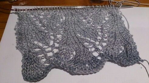 My first lace scarf attempt