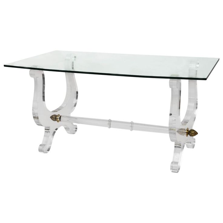 vintage italian lucite desk - Lucite Desk