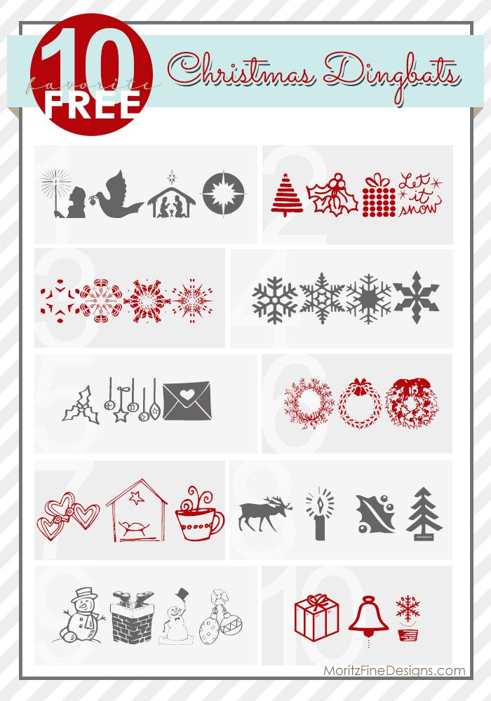 Best Christmas Illustrated Fonts | Christmas Dingbat Fonts