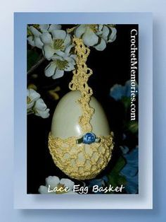The cute little egg baskets are quick to stitch and are adorable. Create an Easter tree and hang these little cuties for the children or grandchildren!Rated: EasyPattern InformationMedium: 100% cotton thread, size 10Hook: Steel size 8 (1.50 mm)Finished