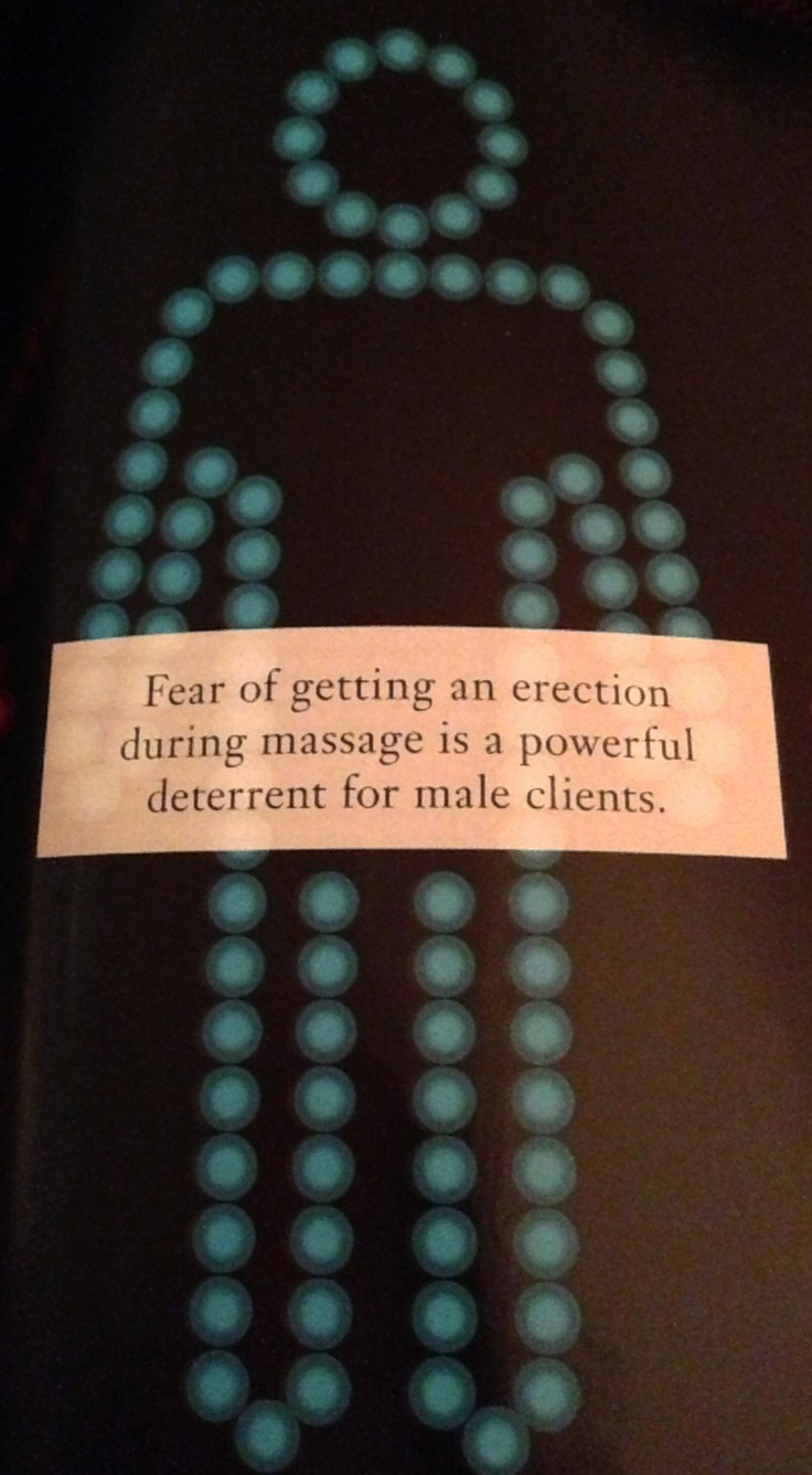 It happens. If your intention is to simply get a therapeutic massage, fear not. A professional therapist(no happy ending)will understand & handle it with ease. Communication is key. Amen  truemassage4-u.com #houston