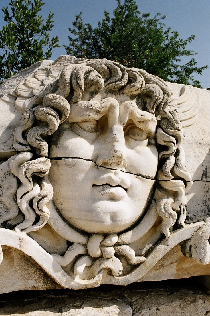 Gorgon, ancient Didyma, Turkey - classical Greek, 5th C. BC. The great temple here was destroyed by the Persians in 494 during Greece's Persian War.