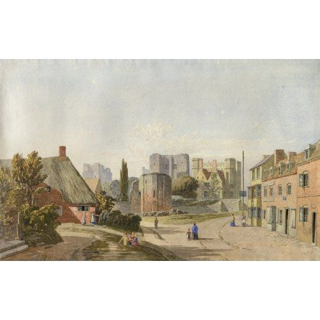 Kenilworth Village and Castle 1836 Canvas Art - Thomas Baker (18 x 24)
