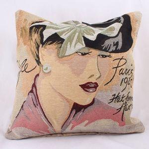 Povlak na polštář Dáma s mašlí Paris 1940