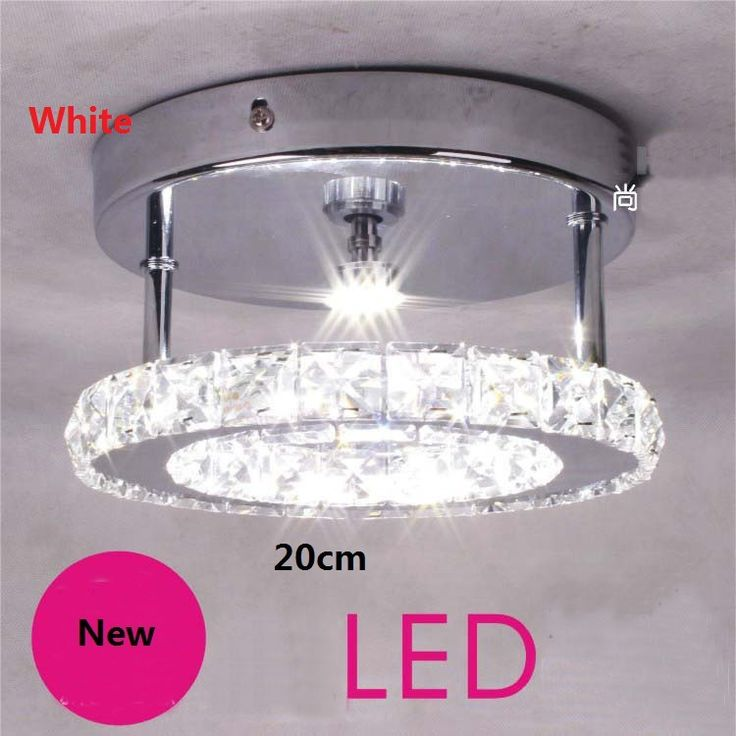 Modern LED Crystal Ring Ceiling Lights 20cm Abajur Corridors Aisle Ceiling Lamp Fixtures For Living Room Plafon Led 220V Lights #Affiliate