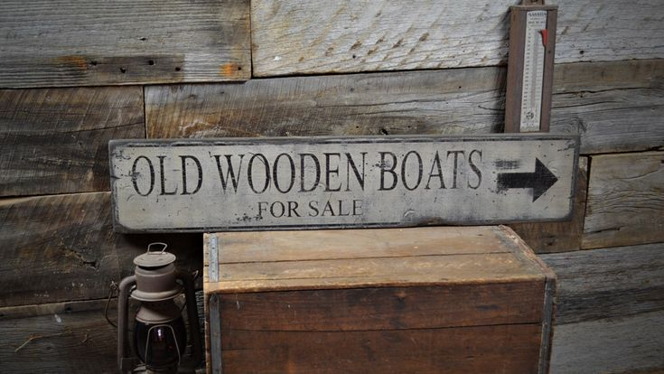 Old Wooden Boats For Sale Sign - Rustic Hand Made Vintage Wooden Sign ENS1000408 by TheLiztonSignShop on Etsy https://www.etsy.com/listing/192602092/old-wooden-boats-for-sale-sign-rustic