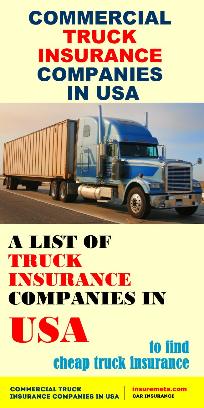 Commercial Truck Insurance Companies in USA   Insurance ...