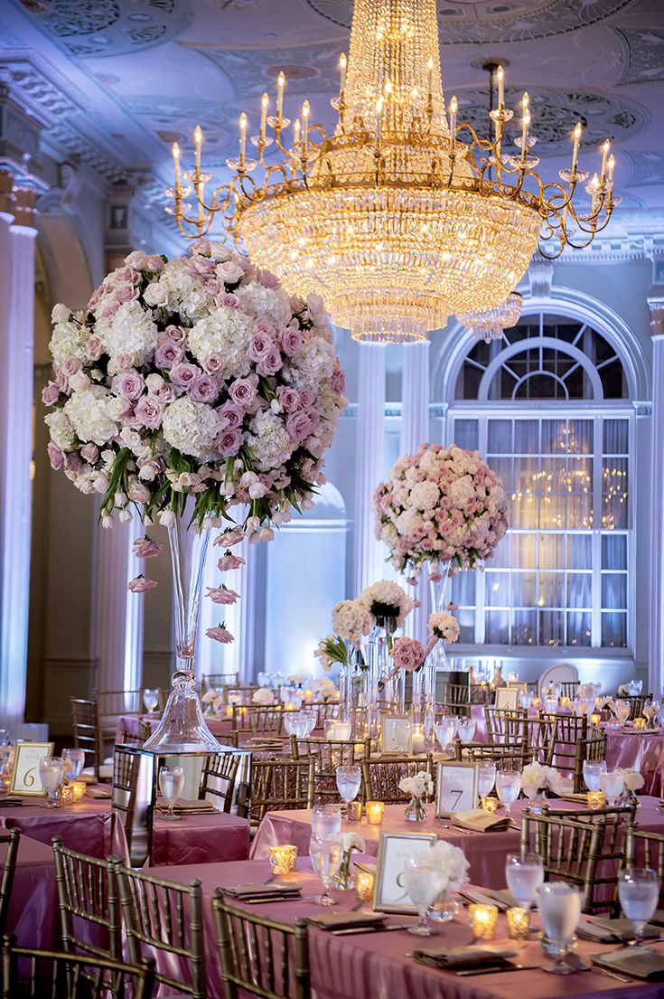 239 best wedding centerpieces images on pinterest for Wedding reception ideas for spring