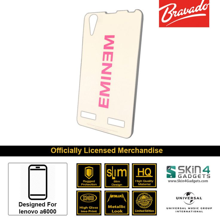 Buy Eminem Mobile Cover & Phone Case For Lenovo A6000 at lowest price online in India only at Skin4Gadgets. CASH ON DELIVERY AVAILABLE