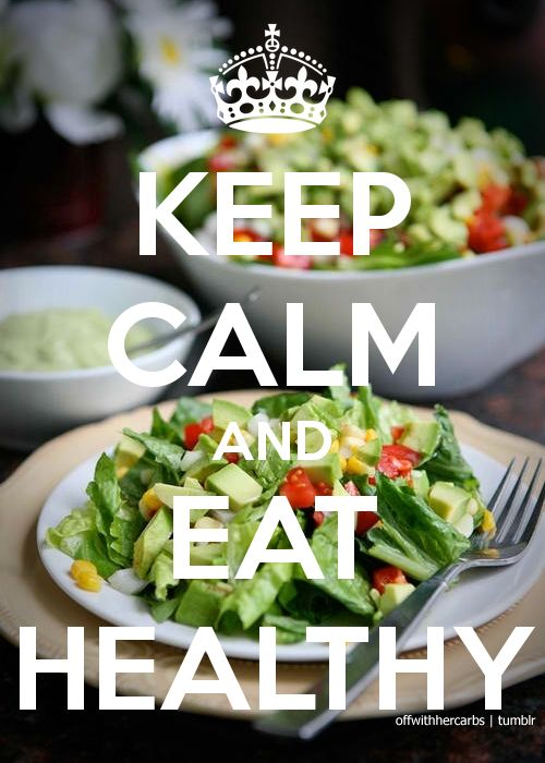 eating healthy is good for the body and soul.