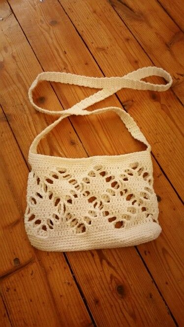 Lovely Finnish handmade crochet handbag, please check my facebook page facebook.com/helmistyle ! :)