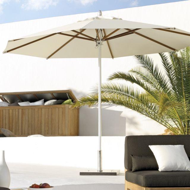95 best outdoor furniture decor images on pinterest for Restoration hardware outdoor umbrellas