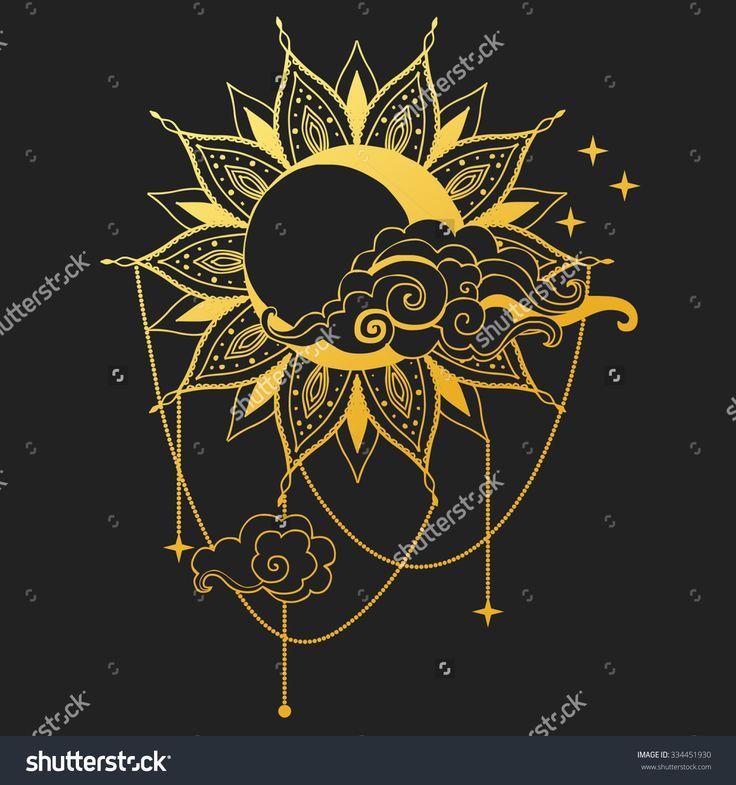 手机壳定制animal print dress shoes Moon and Sun on black background Vector illustration
