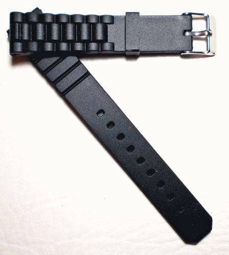 Silikon Uhrenarmband Silicon Rubber Uhr Armband Watch Strap  schwarz 16 mm 2wahl