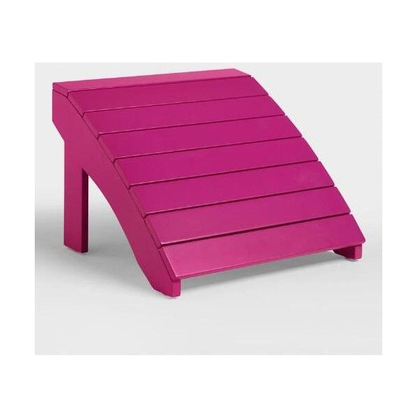 Cost Plus World Market Fuchsia Red Adirondack Stool ($25) ❤ liked on Polyvore featuring home, outdoors, patio furniture, outdoor stools, pink, outdoor furniture, cost plus world market, adirondack patio furniture, adirondack outdoor furniture and acacia outdoor furniture