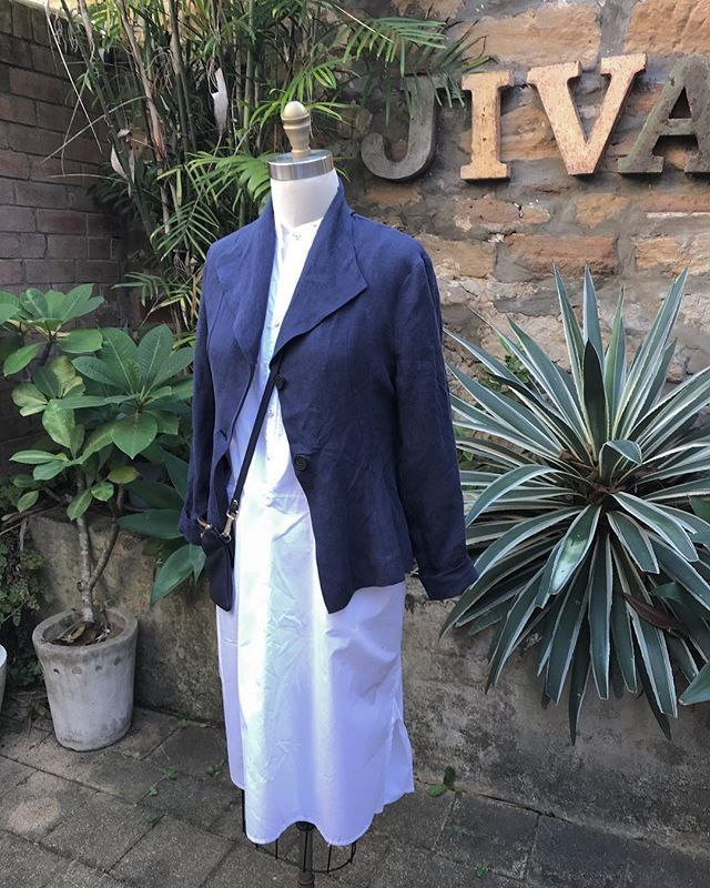 New in store @jiva_clothing ... Angelina jacket in vintage wash linens ...$229#linen #jacket #autumn #layer