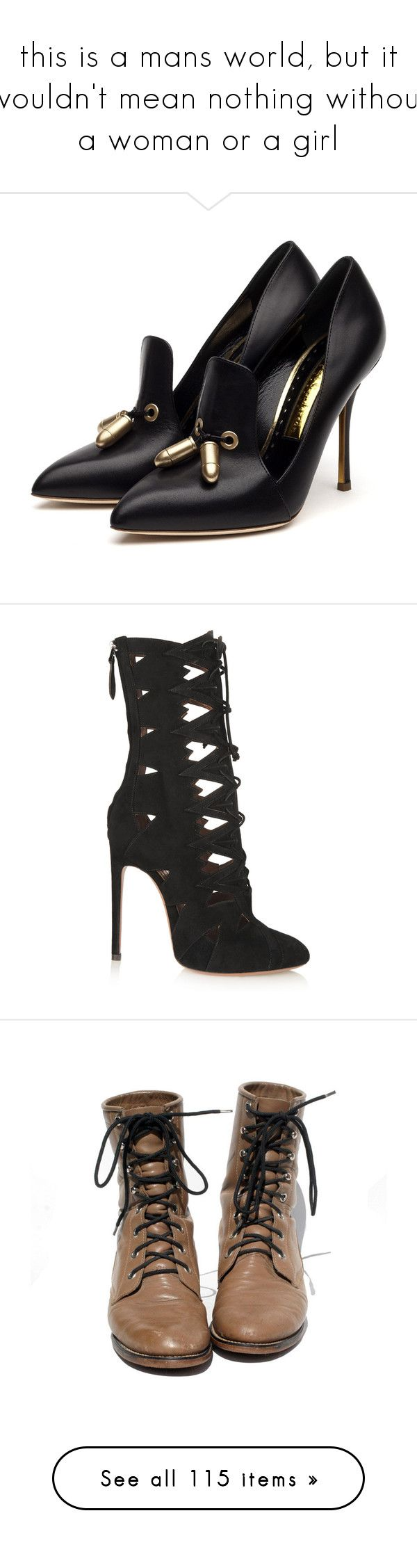 """""""this is a mans world, but it wouldn't mean nothing without a woman or a girl"""" by katiede-lannoy ❤ liked on Polyvore featuring shoes, pumps, heels, zapatos, sapatos, black shoes, high heel shoes, rupert sanderson, high heeled footwear and black high heel pumps"""