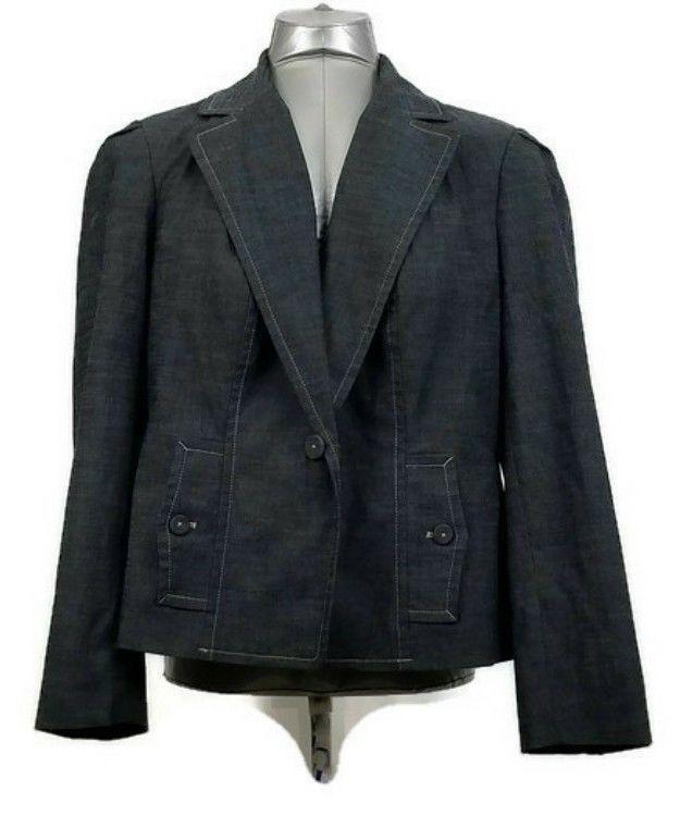 Rafaella Women's 16W Blue Blazer Suit Seperate Jacket Two Pocket Business Attire #Rafaella #Blazer