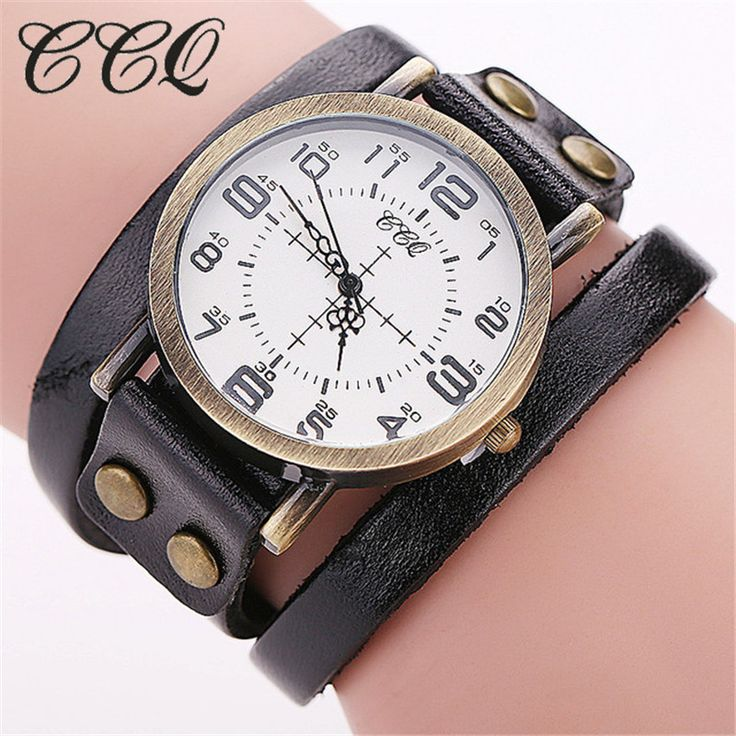 CCQ Brand Vintage Cow Leather Bracelet WristWatch Luxury Casual Women Quartz Watch Relogio Feminino 1347 #>=#>=#>=#>=#> Click on the pin to check out discount price, color, size, shipping, etc. Save and like it!