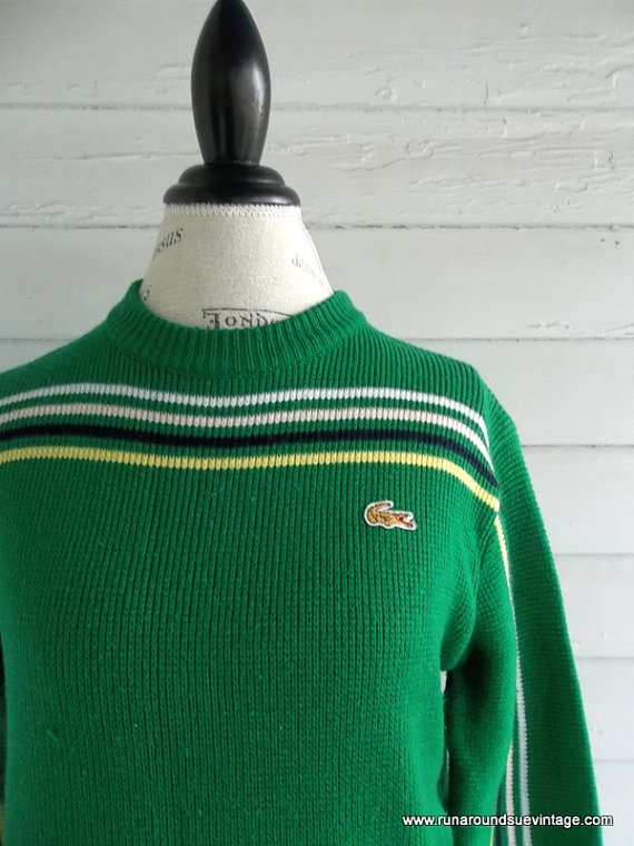 Vintage IZOD Sweater  1980s Kelly Green by runaroundsuevintage, $26.00