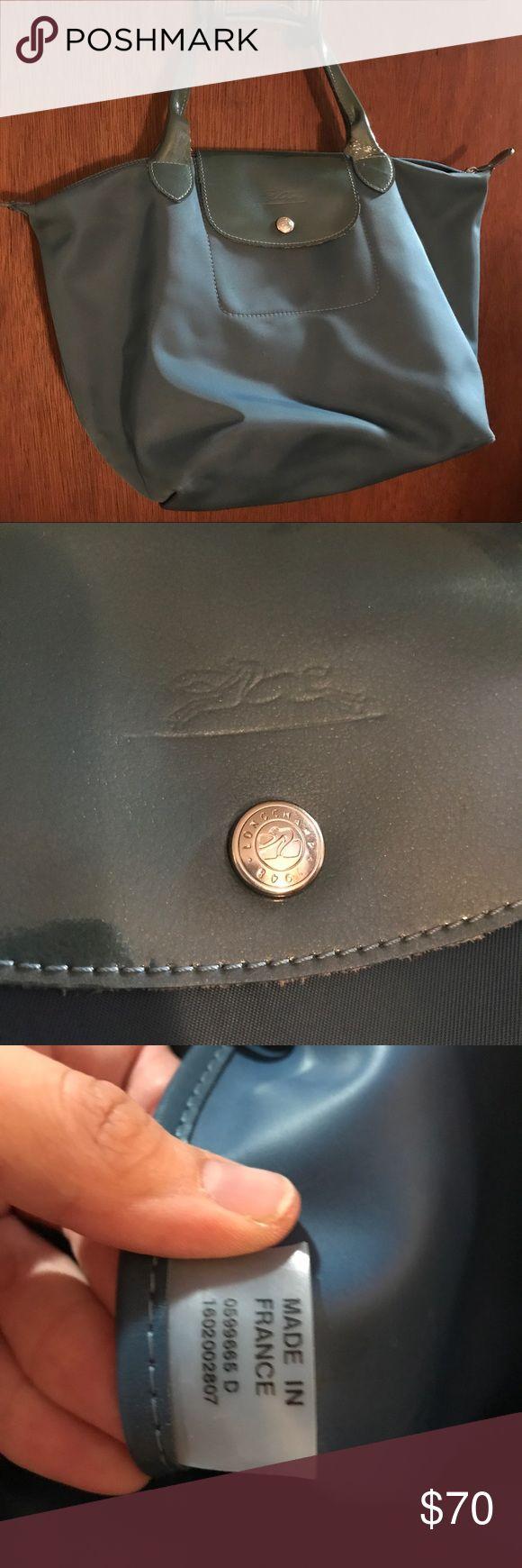 Longchamp Women's Purse Light Blue Medium Pliage Bag. Few Small Marks. Beautiful Bag. Great Christmas Present. Longchamp Bags Satchels
