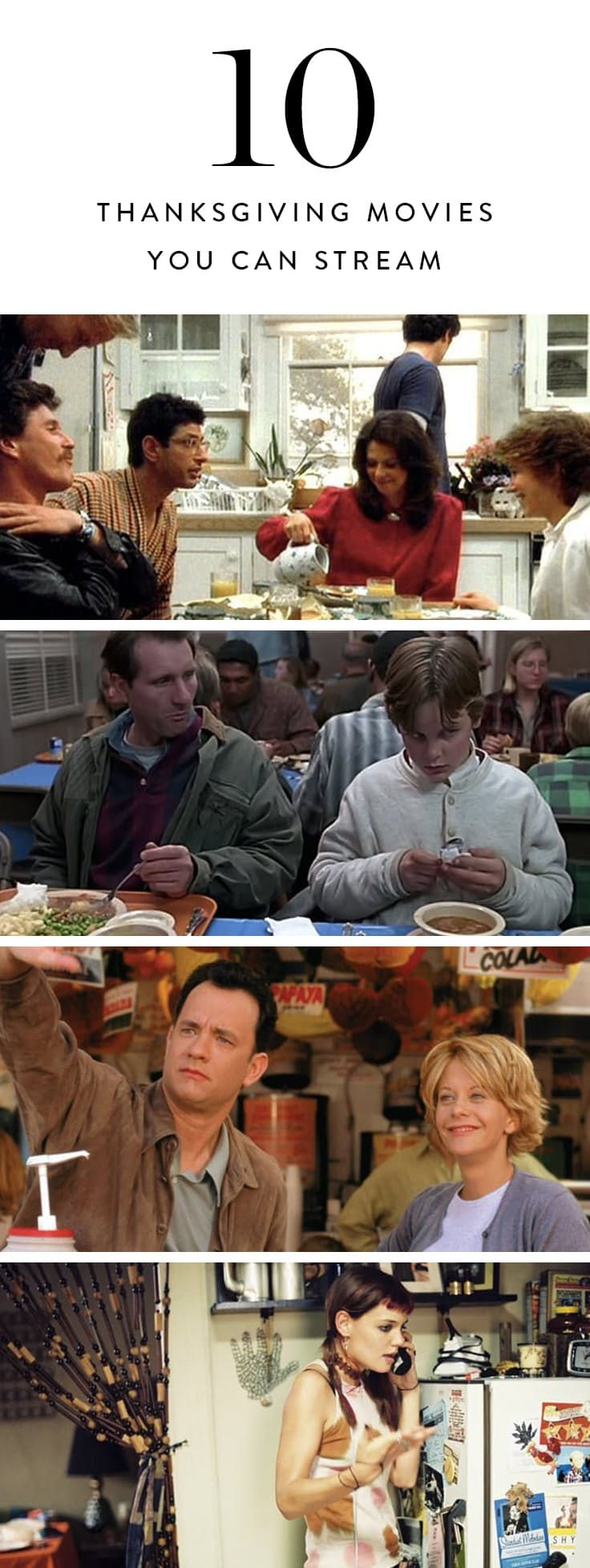 10 Thanksgiving Movies You Can Stream in a Post-Turkey Haze  via @PureWow (=)