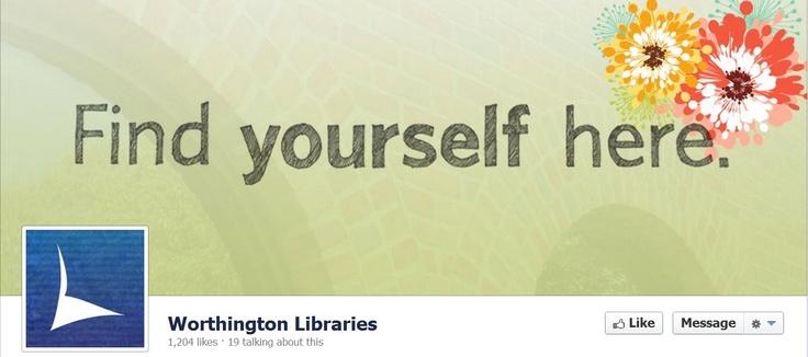 https://www.facebook.com/worthingtonlibraries?ref=ts: Facebook Covers, Library Facebook, Library Branding, Branding Identity, Cover Art