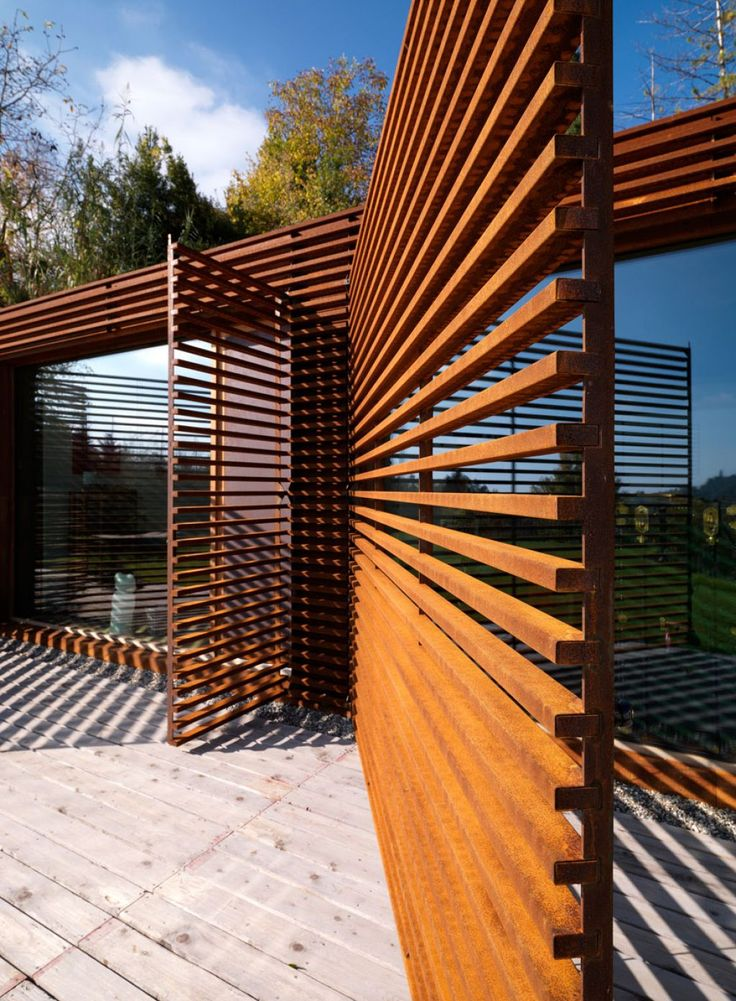 67 best patio ideas images on pinterest backyard ideas for Simple deck privacy screen