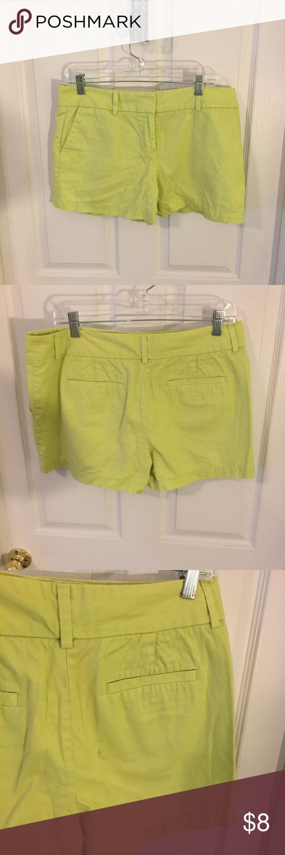 LOFT Lime Green Shorts LOFT Lime Green Shorts.  Size 10.  100% Cotton.  3 inch inseam. LOFT Shorts