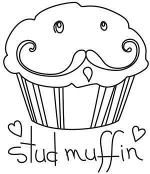 Stud Muffin | Urban Threads: Unique and Awesome Embroidery Designs (#UTH4271) 26 March 2012
