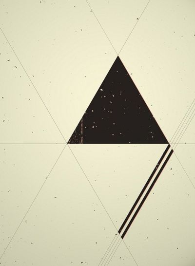 triangles and varying line thickness