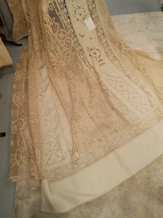 Amazing Bed Cover ca 1930  Entirely Hand by GracesAntiquesShop