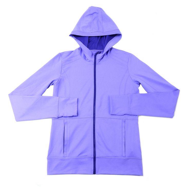 Kirkland Signature Girls Size X-Large (16) Full Zip Hoodie, Purple