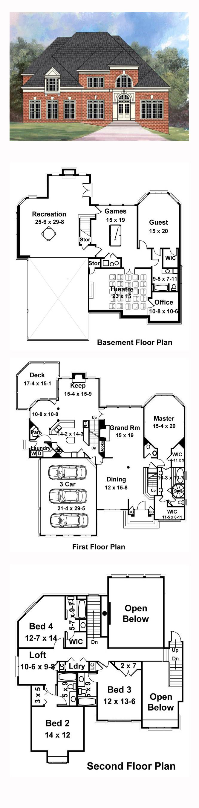Pinfamily Home Plans On Greek Revival House Plans  Pinterest Simple 15 X 20 Kitchen Design Inspiration Design