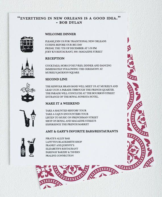 Wedding Invitation Destination New Orleans by seahorsebendpress