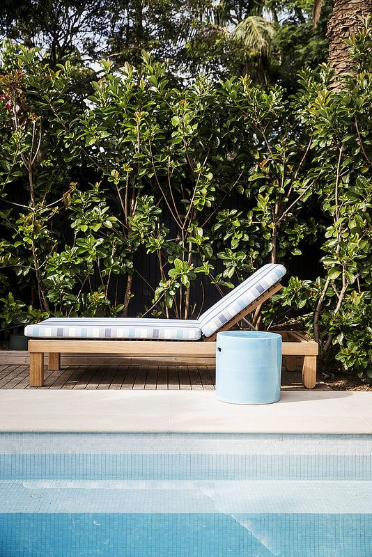 Jimmy Pool Lounge with Southie Side Table by Robert Plumb