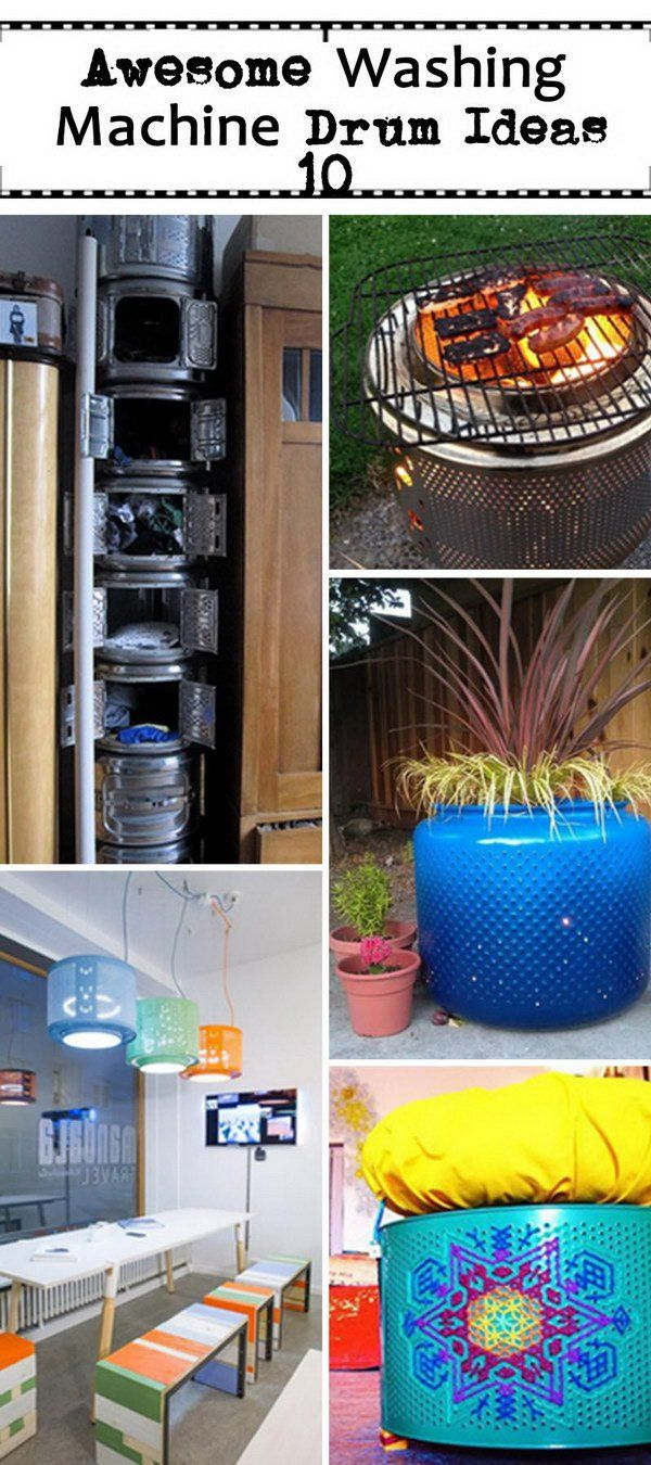 Awesome Washing Machine Drum Ideas!