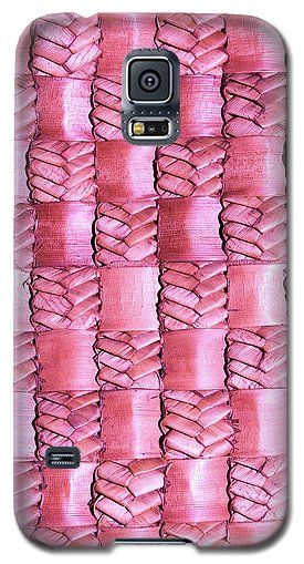 Weaving Galaxy S5 Case featuring the photograph Weaving Flax - Watermelon by Wairua o te Moana