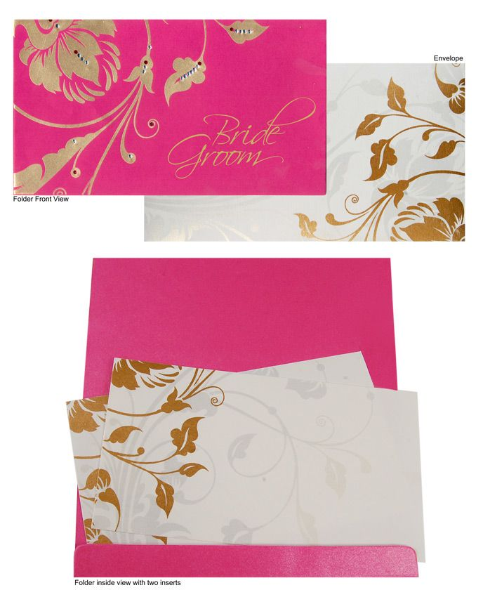 Pink Glistening Silk Invitation Card With Pad Impact On Amazing Print Looks Baffling Effect This