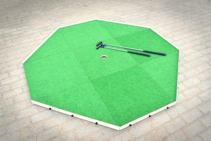 Gozzle Minigolfplatz - Basismodul auf dem Parkplatz.  #gozzle, #minigolf, #golf, #PoleDoMinigolfa, #Minigolfplatz, #Kwadrat, #Trójkąt, #Quadrat, #Dreiecke, #minigolfing #sportoutdoor #spaß #kreativ #fürkinder #minigolfcourse