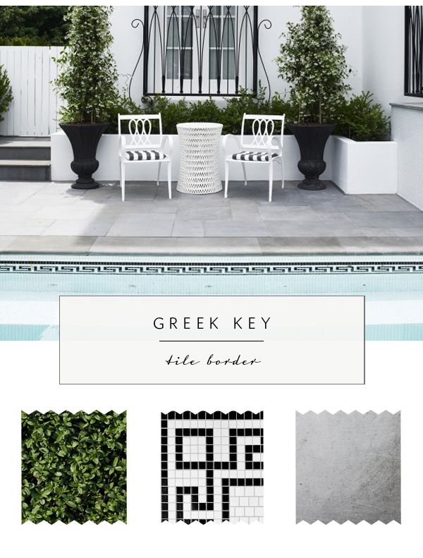 5 Updated Ways to Use Greek Key - tile border | via coco kelley