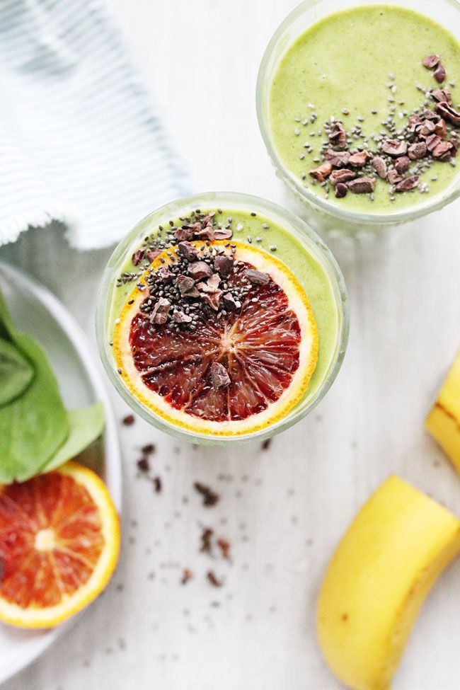 This PMS Smoothie contains ingredients to help balance your hormones, alleviating symptoms of PMS like cramps and bloating.