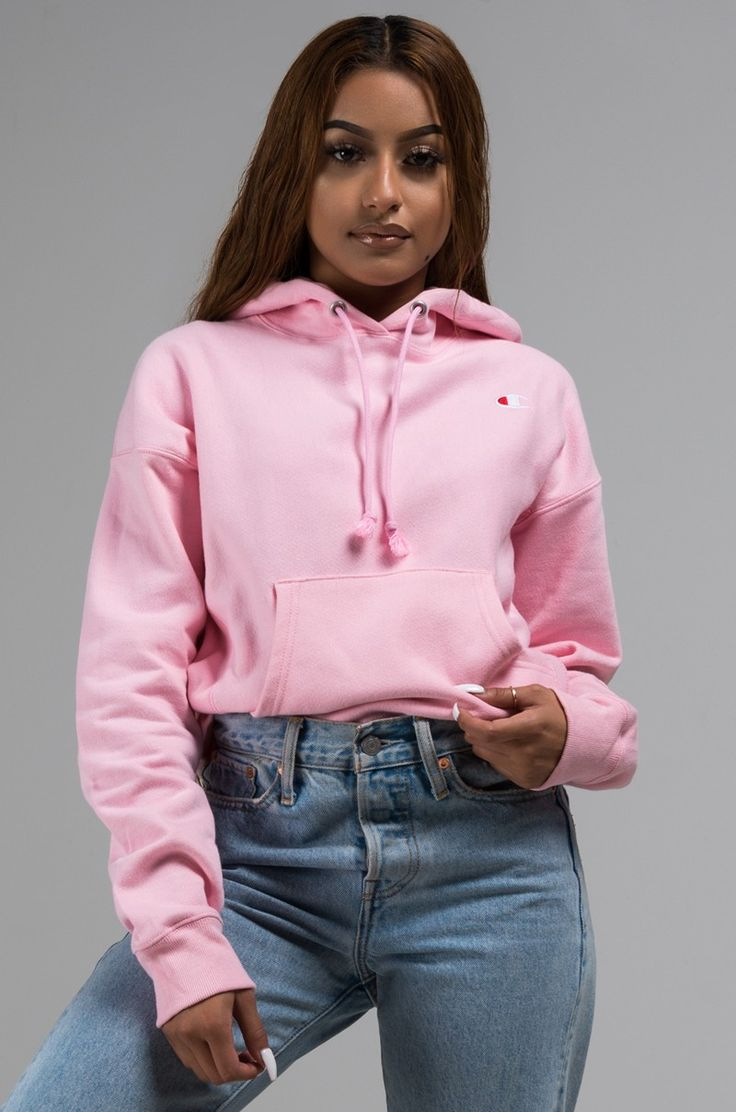 Front View Champion Reverse Weave Pullover Hoodie With Chest C Logo In Pink Candy Champion Clothing Pink Hoodie Outfit Zumiez Outfits [ 1112 x 736 Pixel ]