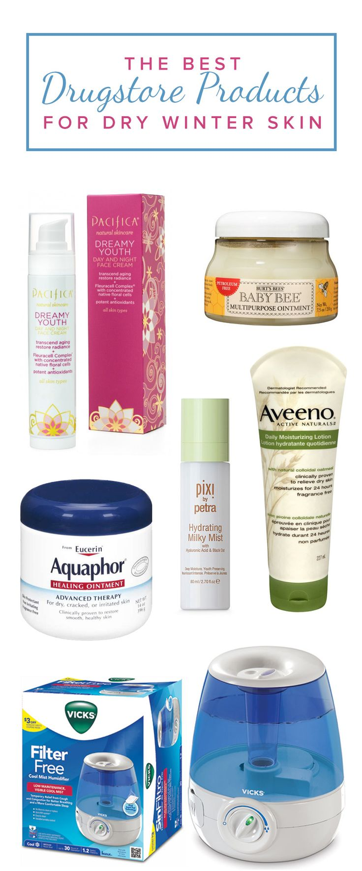 The cocoa butter in some of these skincare products will soothe even the driest of skin and also smells amazing!