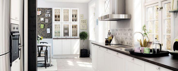Moderne og klassisk kjøkken med plass til hygge