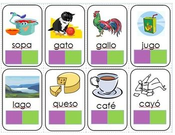 FREE - 1,2,3,4 Syllable Words -  Spanish Syllable Sort Game. Kids count the syllables in words to win the race. (printed)