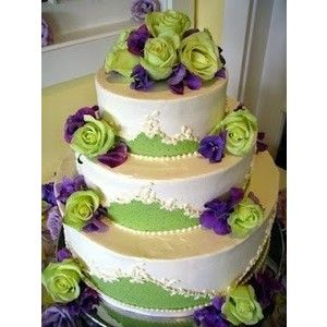 25 best Purple and green wedding cakes images on Pinterest | Green ...