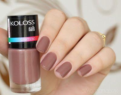 "Esmalte ""Ganache"" da Koloss | Marrom | Elegante | Unhas Marrons | Brown Nails | by @morganapzk"
