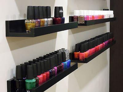 nail polish rack idea I LOVE