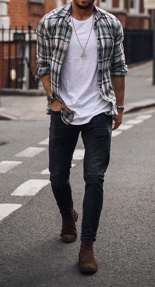 👌 Plaid Casual Look!